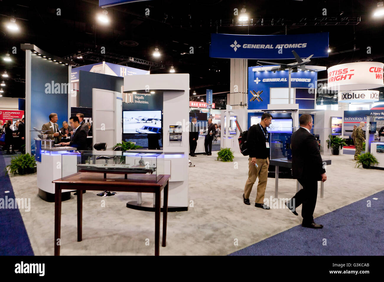 General Dynamics exhibit booth at US Navy League Sea-Air-Space Exposition - Washington, DC USA - Stock Image