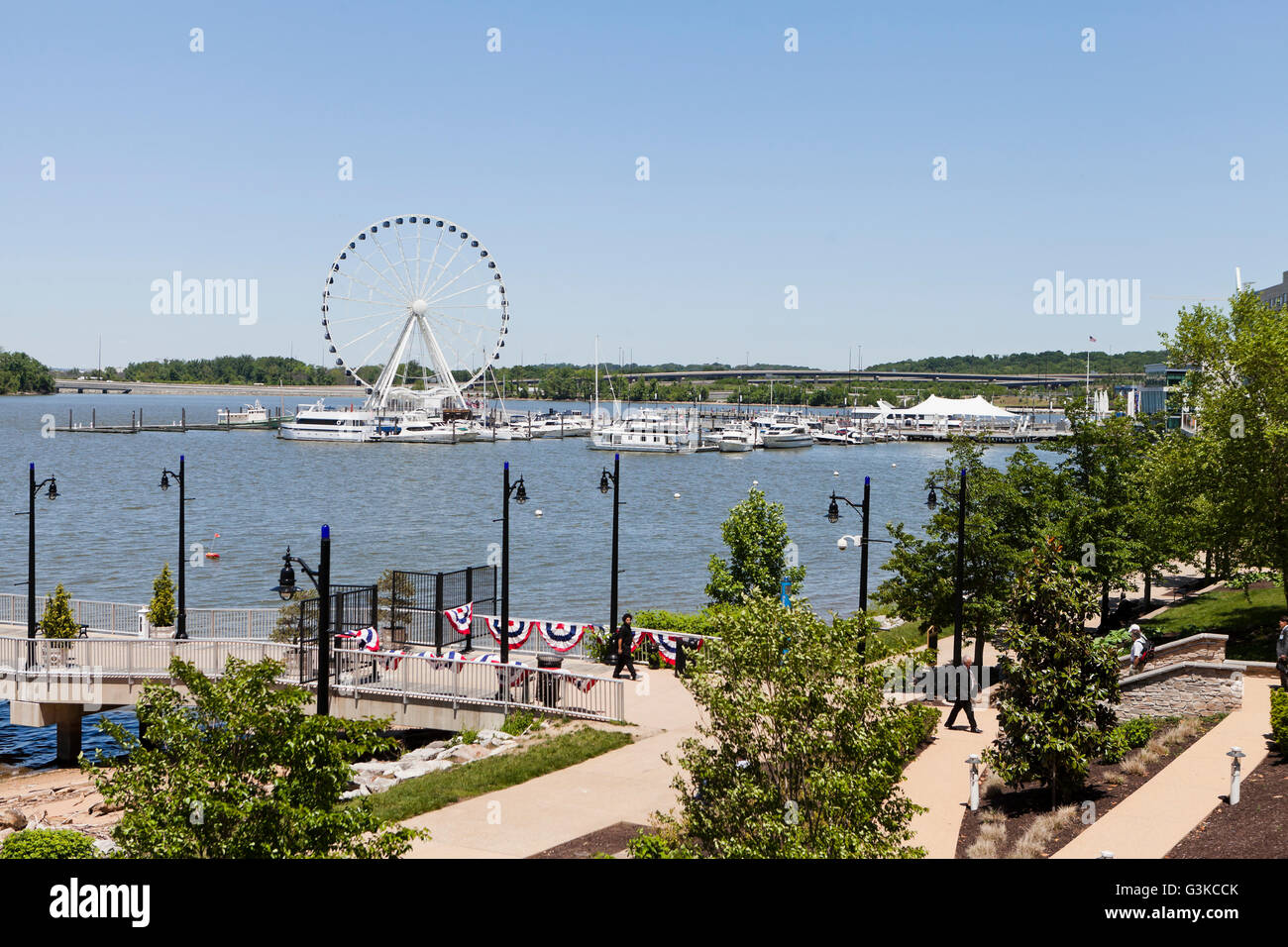 The Capital Wheel - National Harbor, Maryland USA - Stock Image