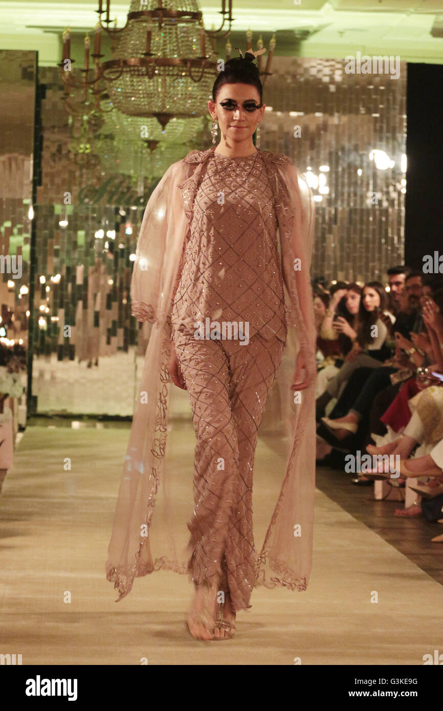 99d4403a8b Lahore, Pakistan. 20th Apr, 2016. A red carpet during famous designer Sehar  Tareen's new dress collection organized by Celeste Home Fashion.