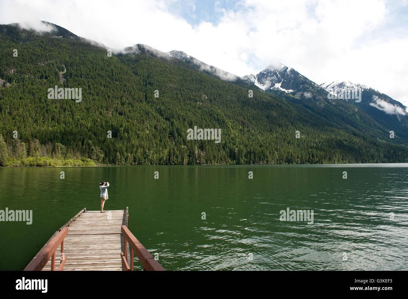 Birkenhead Provincial Park, north of Pemberton, British Columbia, Canada. - Stock Image