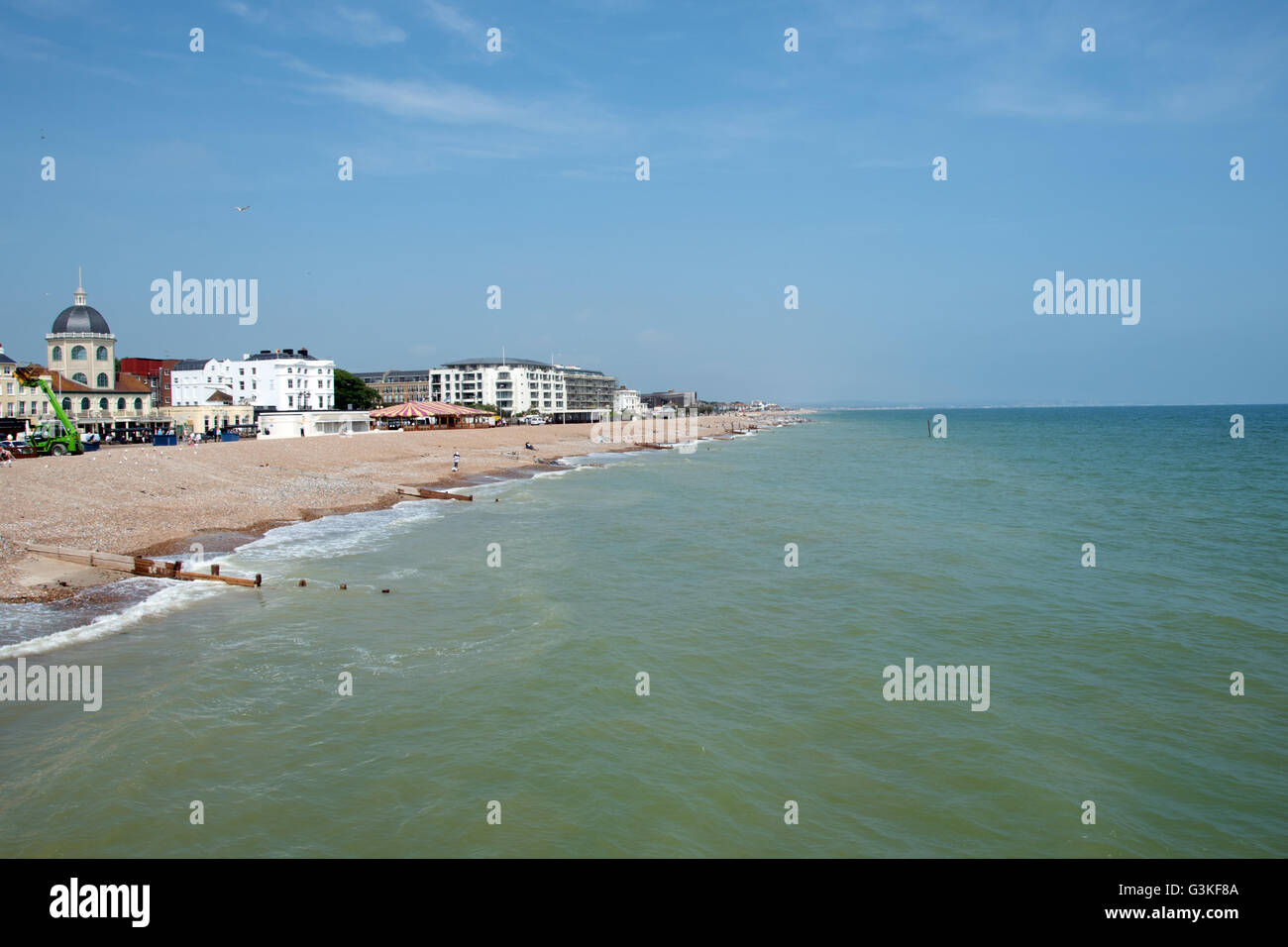 Views from Worthing pier - Stock Image