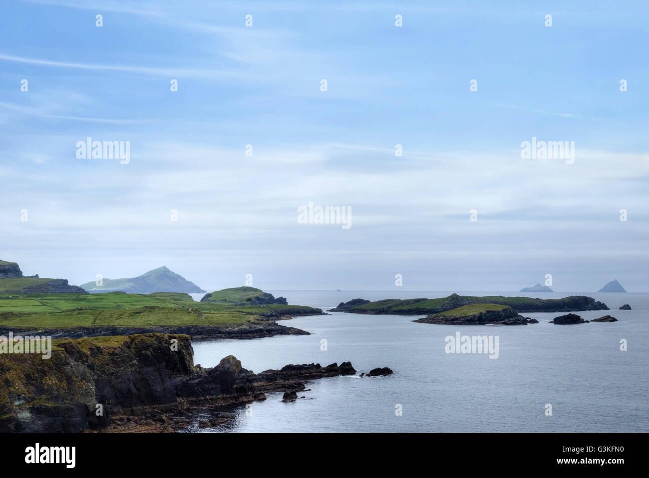 Valentia Island, Iveragh Peninsula, Skellig Ring, Kerry, Ireland, Europe - Stock Image