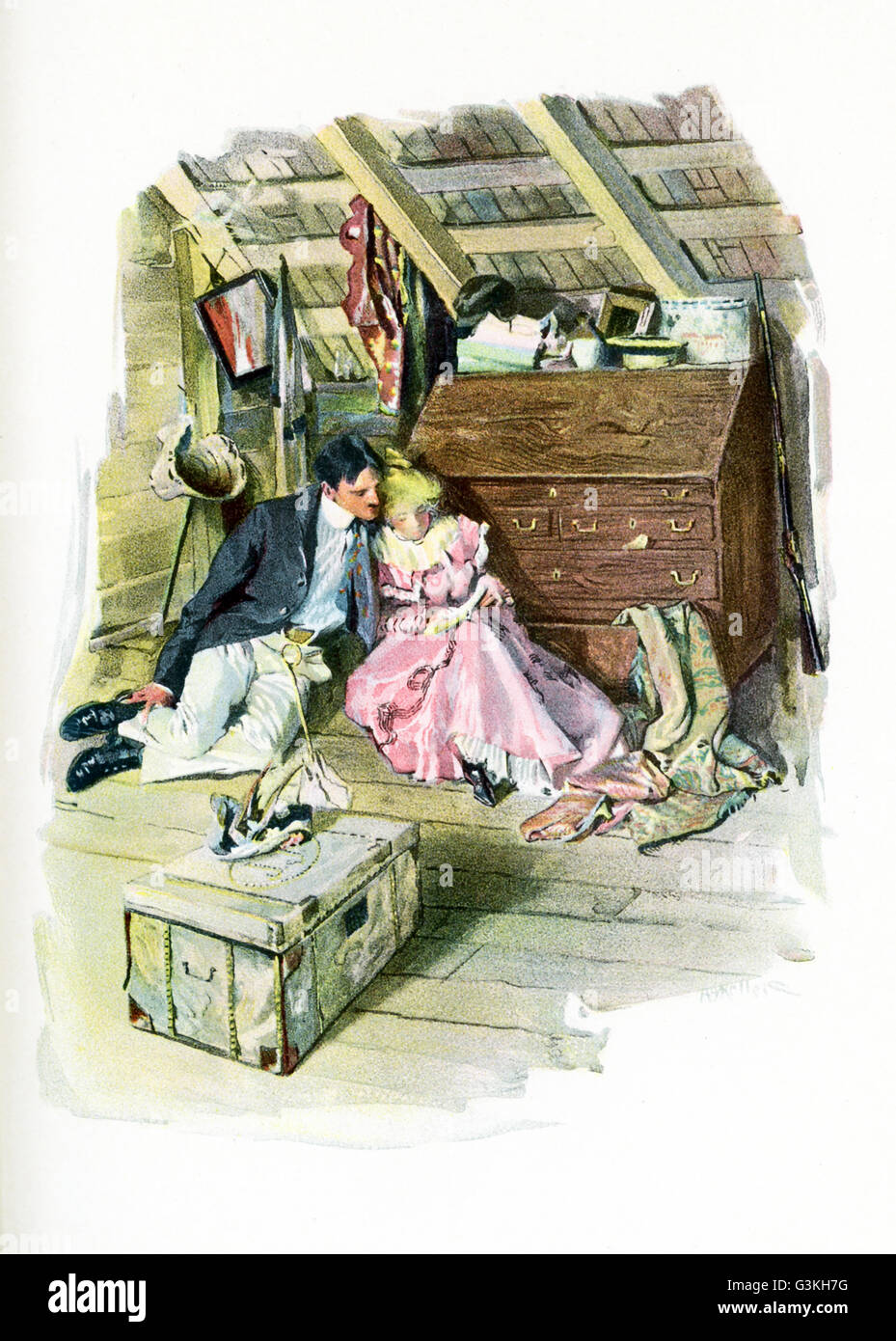Amos Judd is a novel written in 1895 by J.A. Mitchell (1845-1918). It takes place against a background of civil - Stock Image