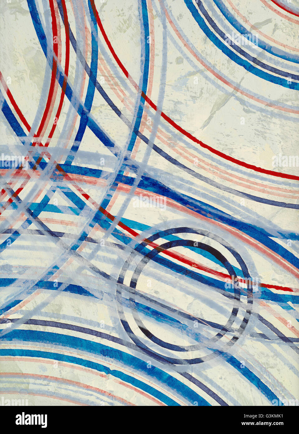 An Abstract Painting; Concentric Rings - Stock Image