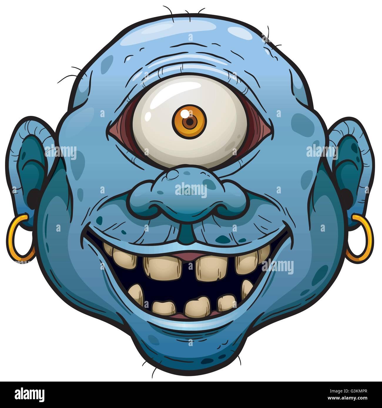 cartoon monster face stock photos cartoon monster face stock