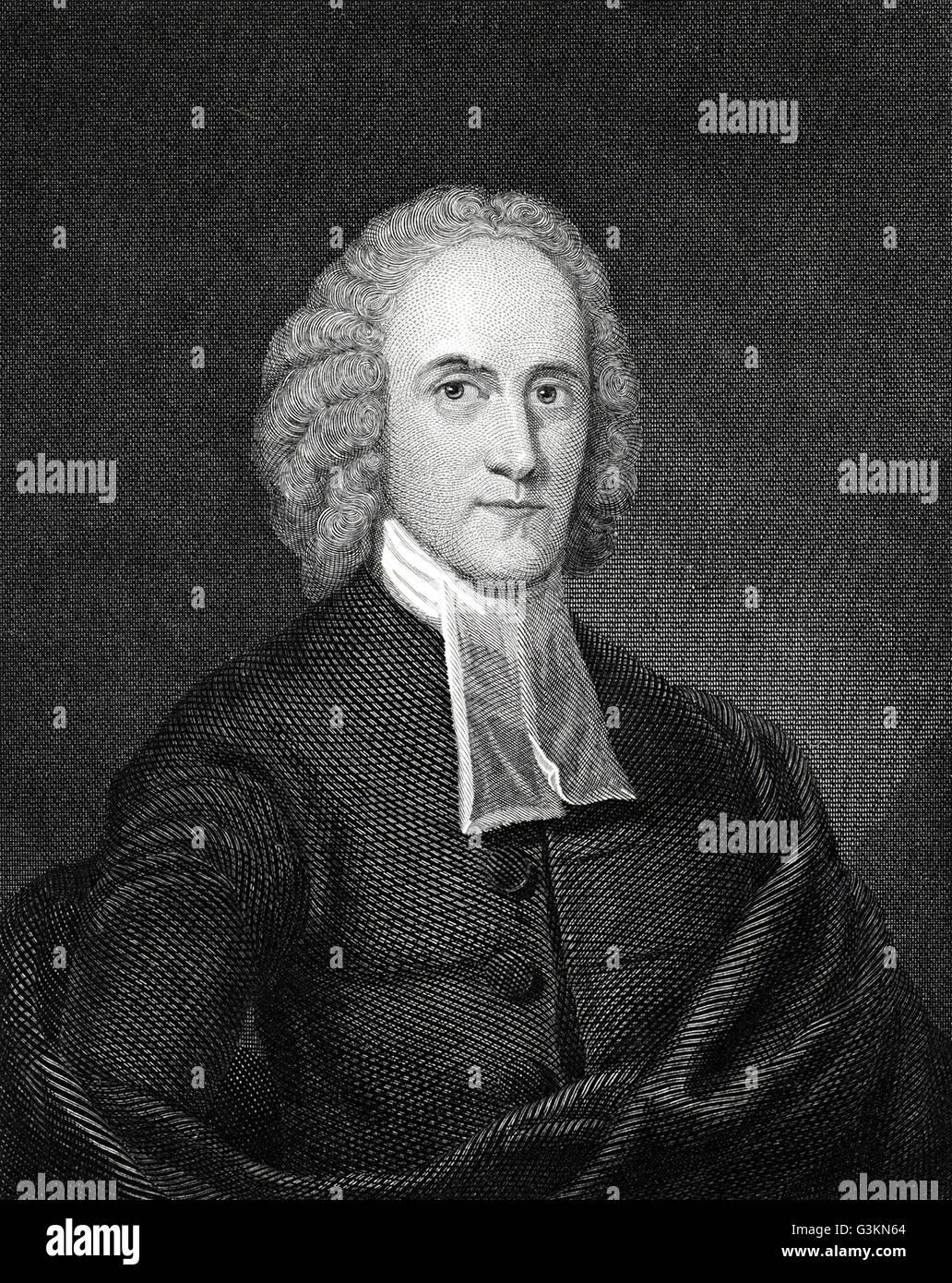 Jonathan Edwards, 1703 - 1758 - Stock Image