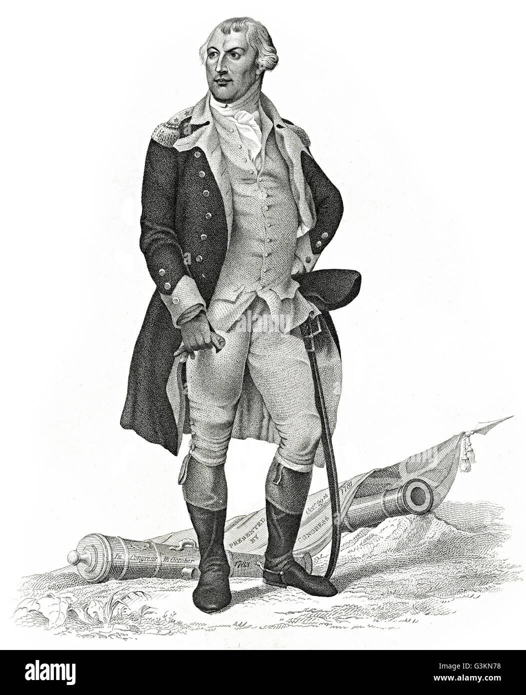 Nathaniel Greene, 1742 - 1786 Stock Photo