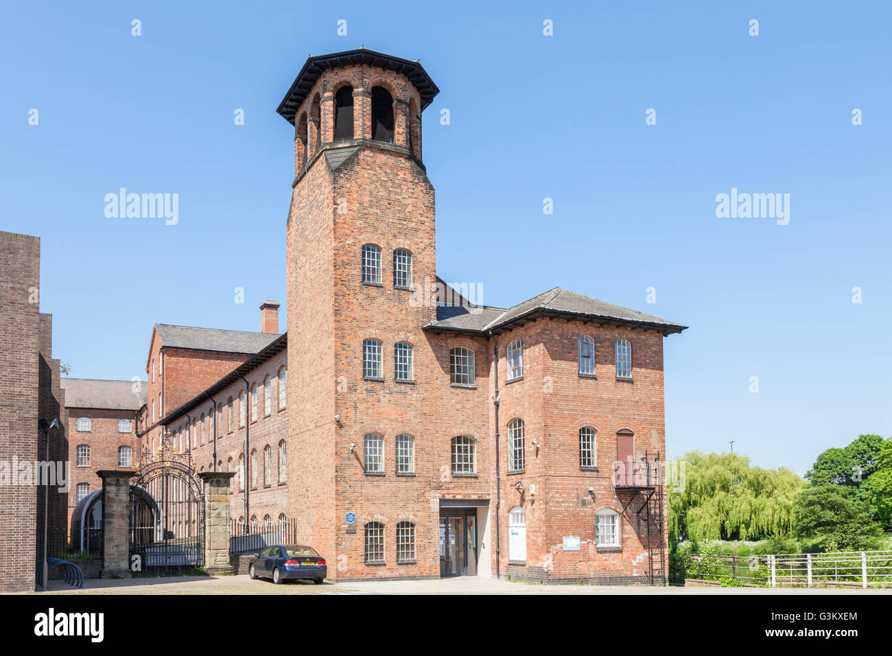 The Silk Mill, Derby, Derbyshire, England, UK. A UNESCO World Heritage  Site and part of the Derwent Valley Mills - Stock Image