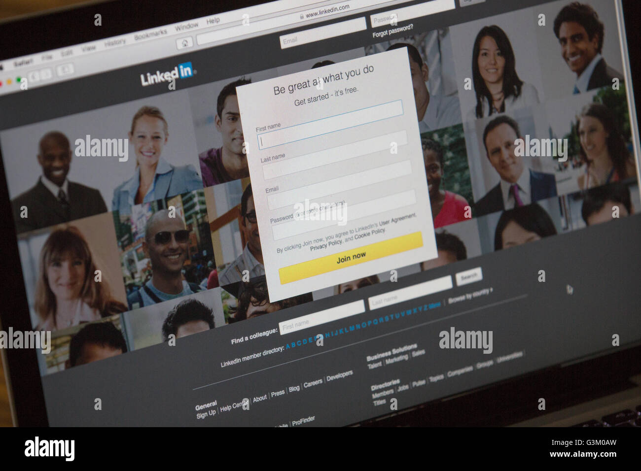 linkedin homepage login screen pictured in kingston ont on june