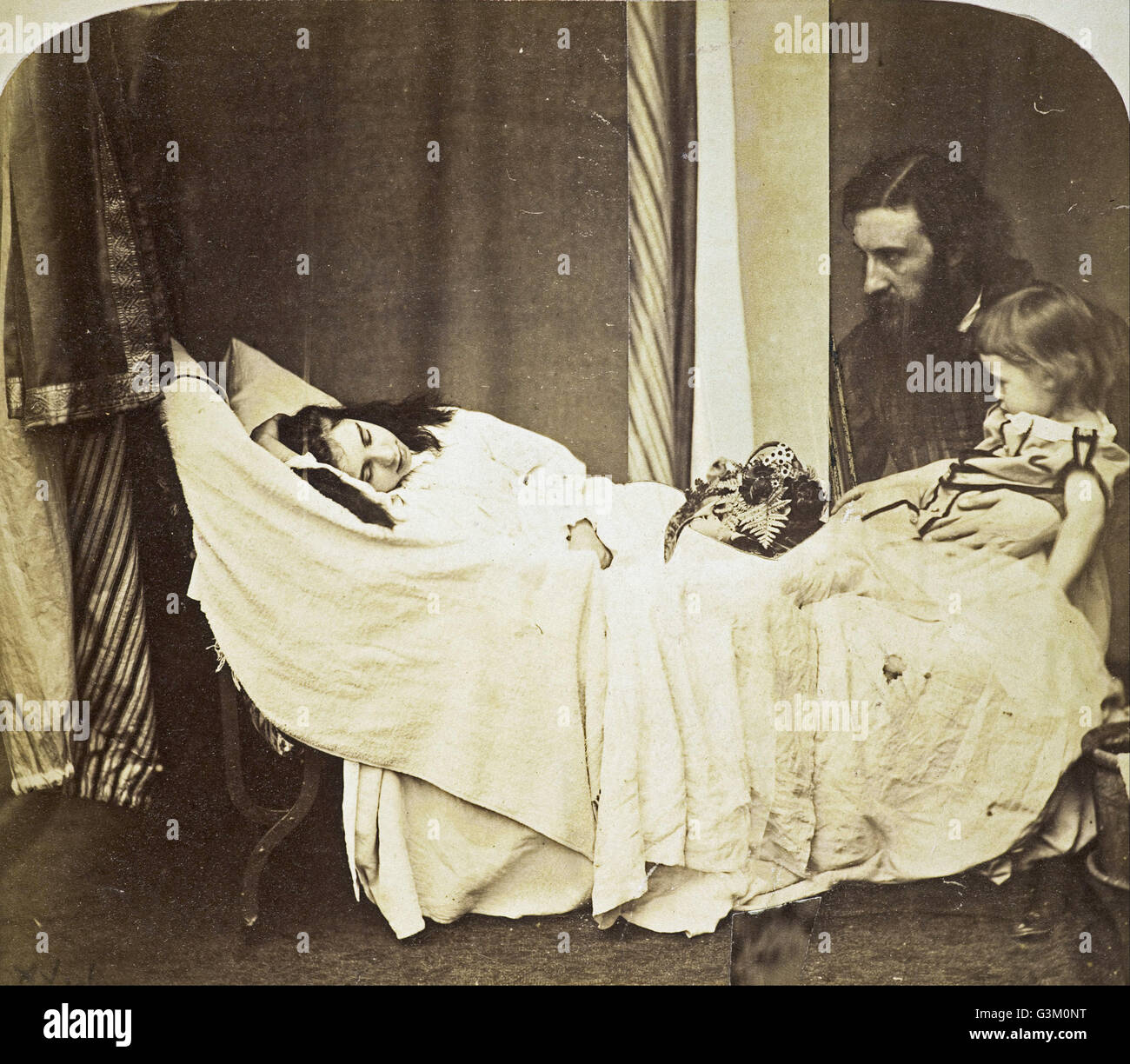 Rev. Charles Lutwidge Dodgson, 'Lewis Carroll' - 'Mary J. MacDonald dreaming of her father - Stock Image