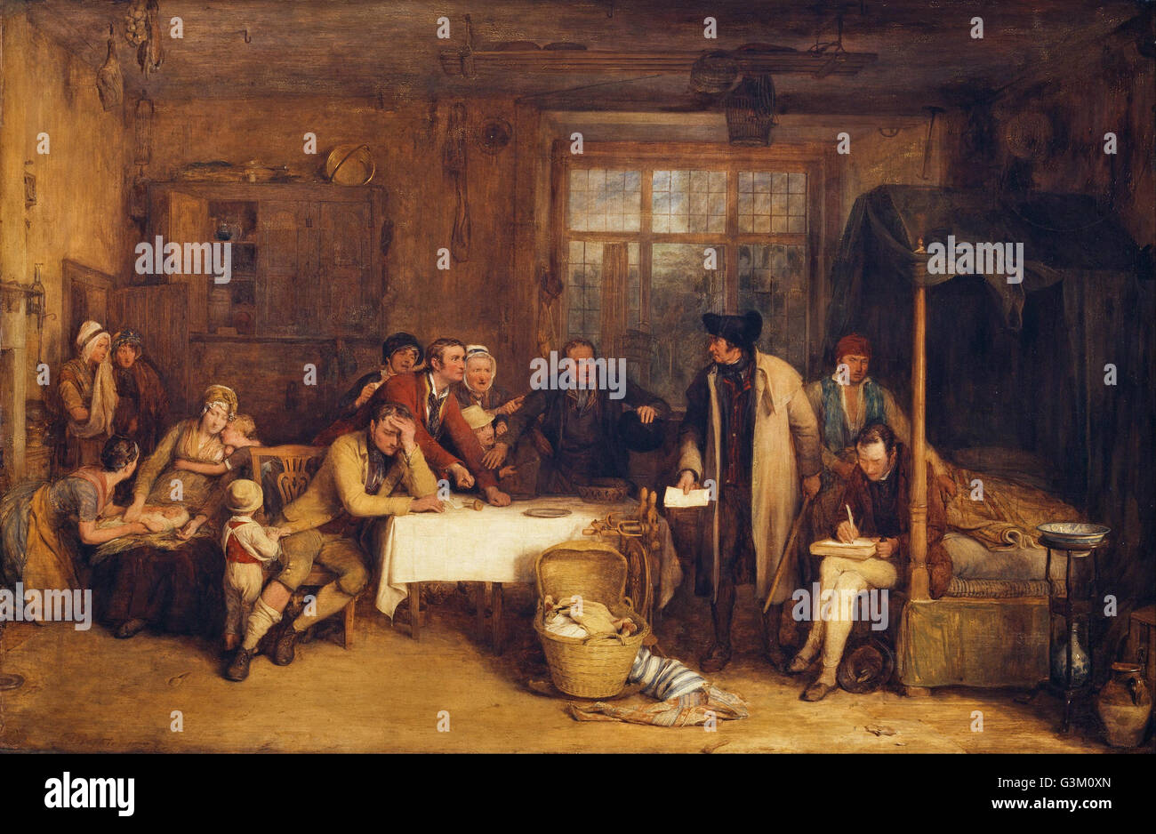 Sir David Wilkie - Distraining for Rent - Stock Image