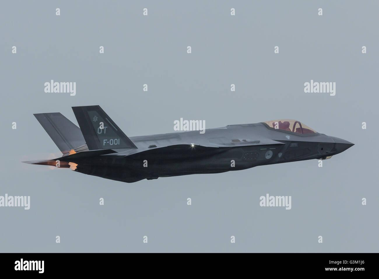 F-35 Lightning II of RNLAF - Stock Image