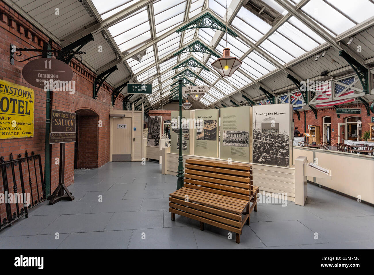 Cobh Heritage Centre in Old Victorian Raiway Station, dedicated to the history of emigration from Ireland, Cobh, - Stock Image
