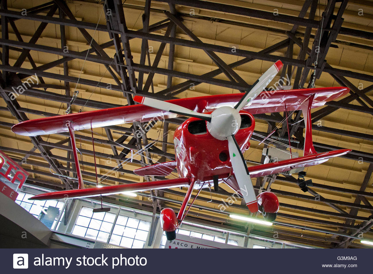 acrobatic biplane pitts S1T-GM special,volandia,park and museum of flight,somma lombardo,italy - Stock Image
