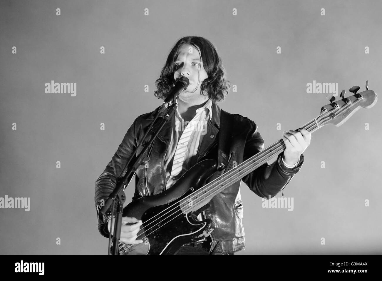 Jamie Cook of English rock band Arctic Monkeys performs at Zurich Openair Festival 2013. - Stock Image