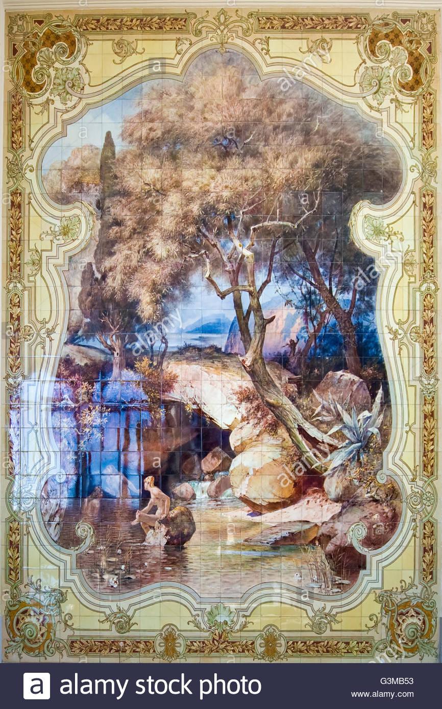 villa monastero,varenna,italia - Stock Image