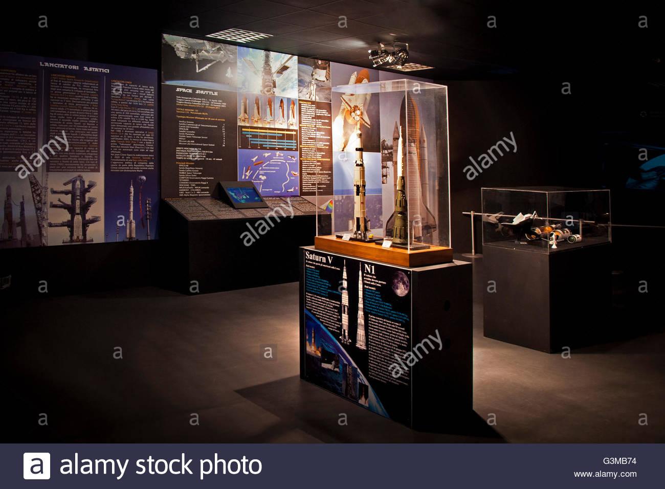 pavilion planetary space,volandia,park and museum of flight,somma lombardo,italy - Stock Image