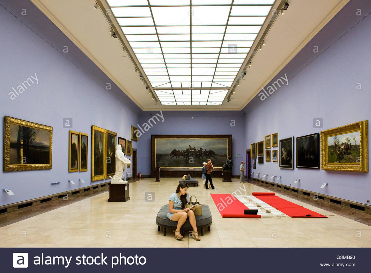 Poland,Krakow,Gallery of 19th Century Polish Art - Stock Image