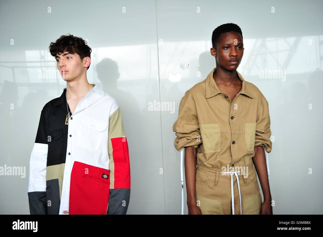 8af64d4d2e Models backstage at the Liam Hodges London Collections Men SS17 show held  at the BFC Show Space The Strand, London.