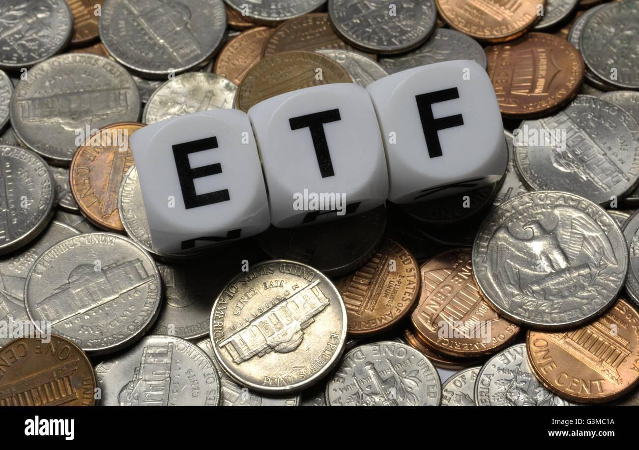 Exchange Traded Fund: - Stock Image