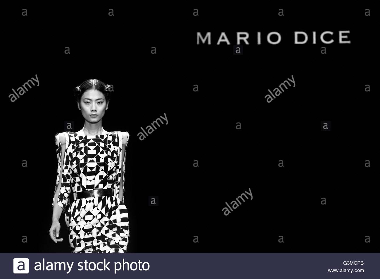 Milan,Fashion week,Mario Dice Stock Photo