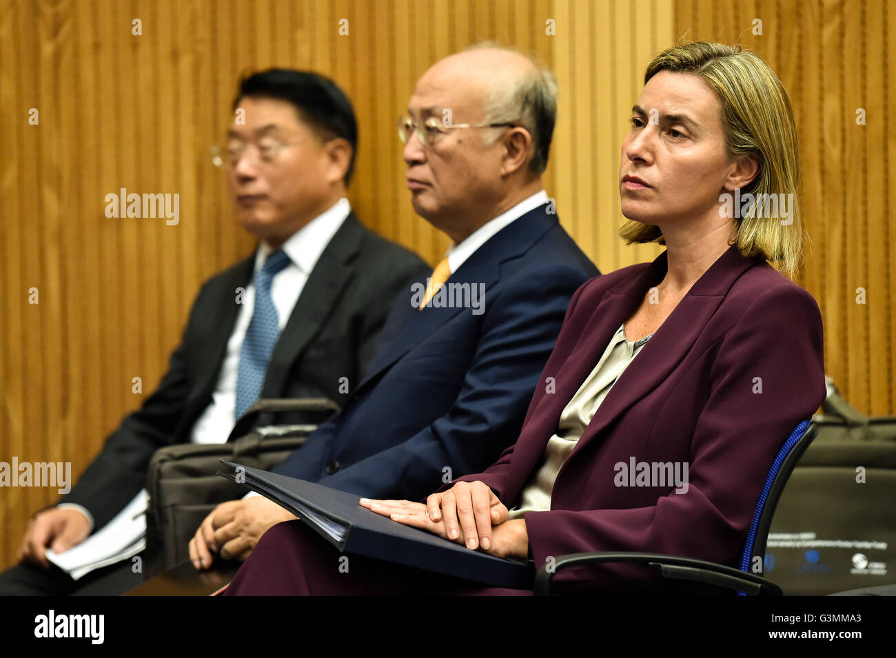 Vienna, Austria. 13th June, 2016. (R to L) European Union (EU) foreign policy chief Federica Mogherini, International - Stock Image