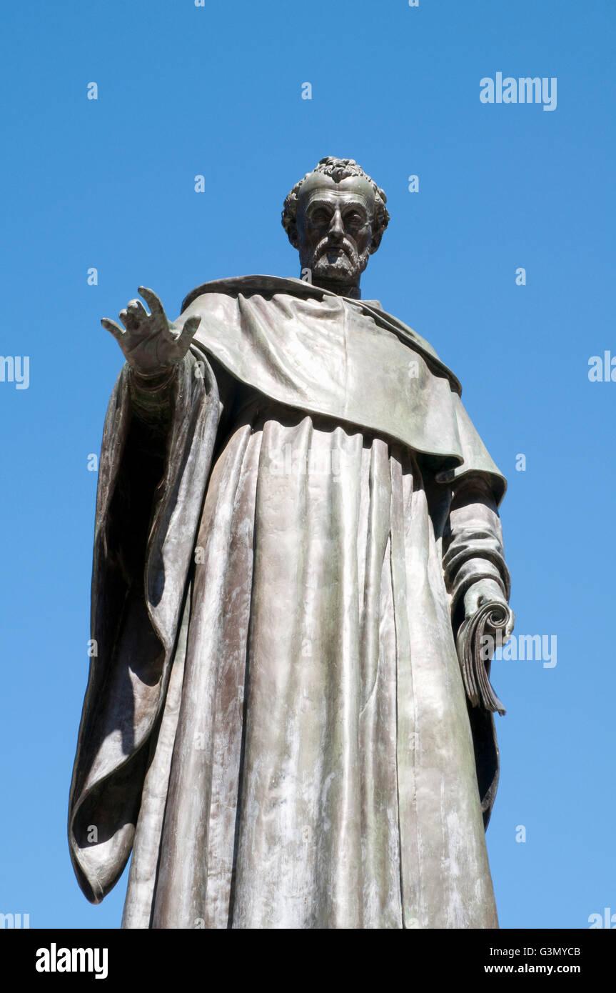 Fray Luis de Leon statue. Salamanca, Spain. - Stock Image
