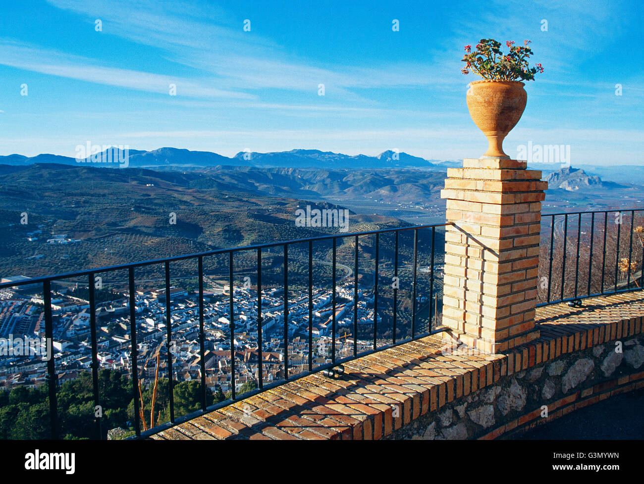 View from the viewpoint. Archidona, Malaga province, Andalucia, Spain. - Stock Image