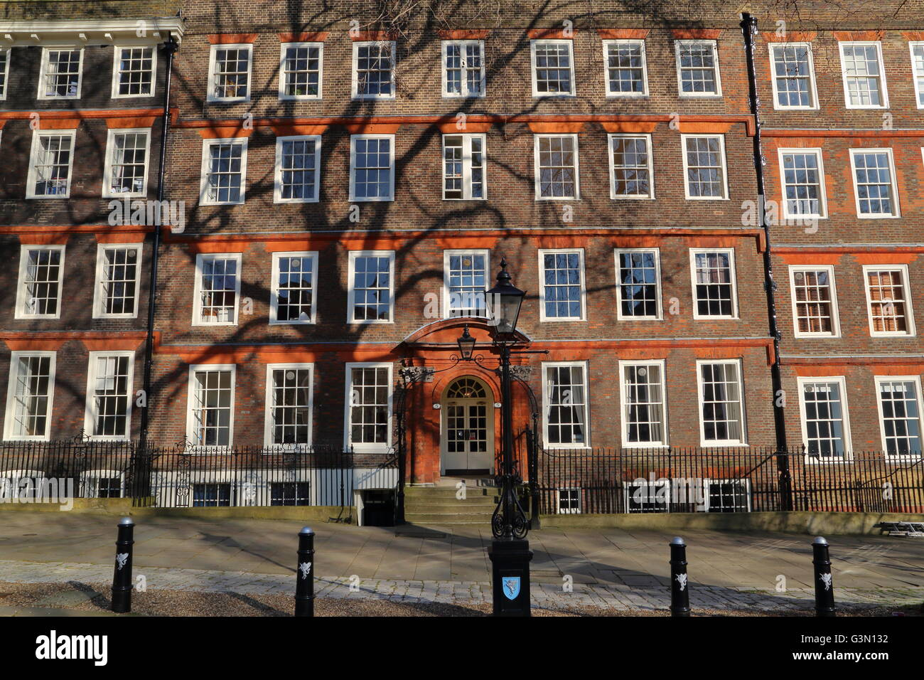 Kings Bench walk, Inner Temple, Inns of Court, Sollicitors Chambers buildings, London, Great Britain - Stock Image