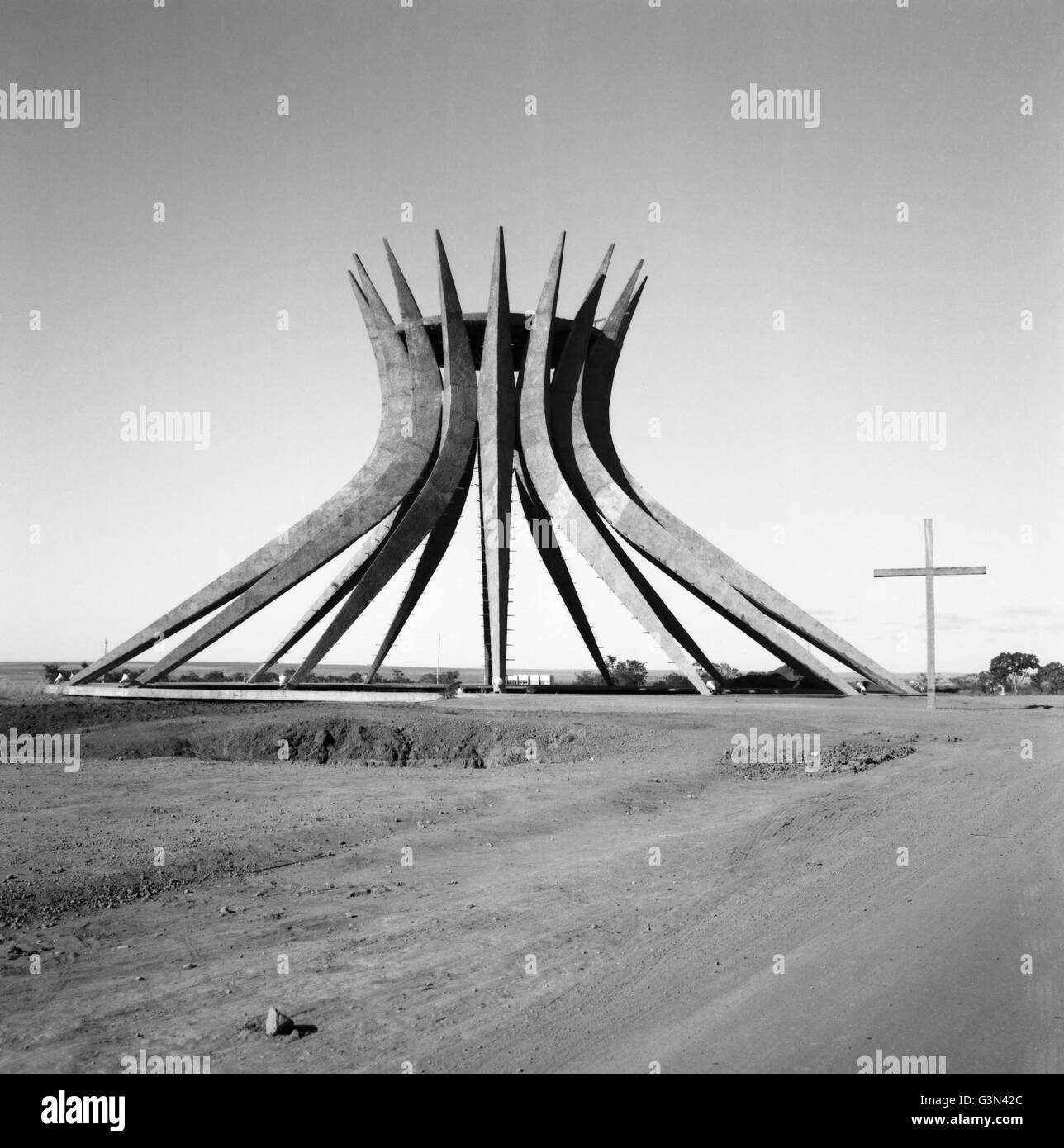 brasilia cathedral construction stock photos brasilia cathedral construction stock images alamy. Black Bedroom Furniture Sets. Home Design Ideas