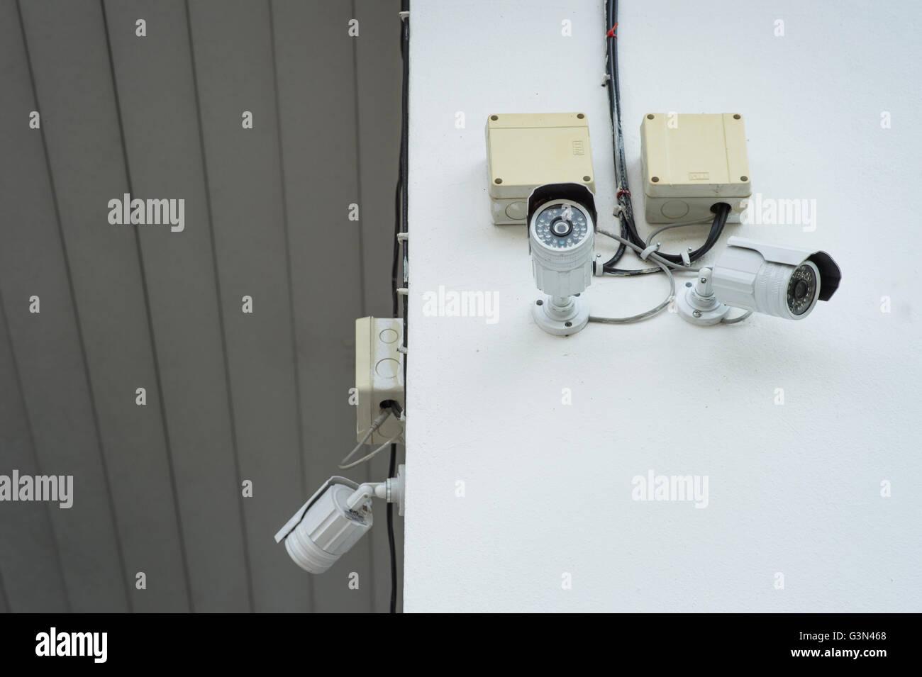 CCTV Security Camera, Closed circuit television,surveillance camera. - Stock Image