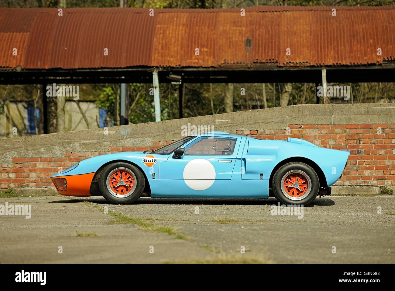 Side View Of Ford Gt Mkii In Gulf Racing Livery