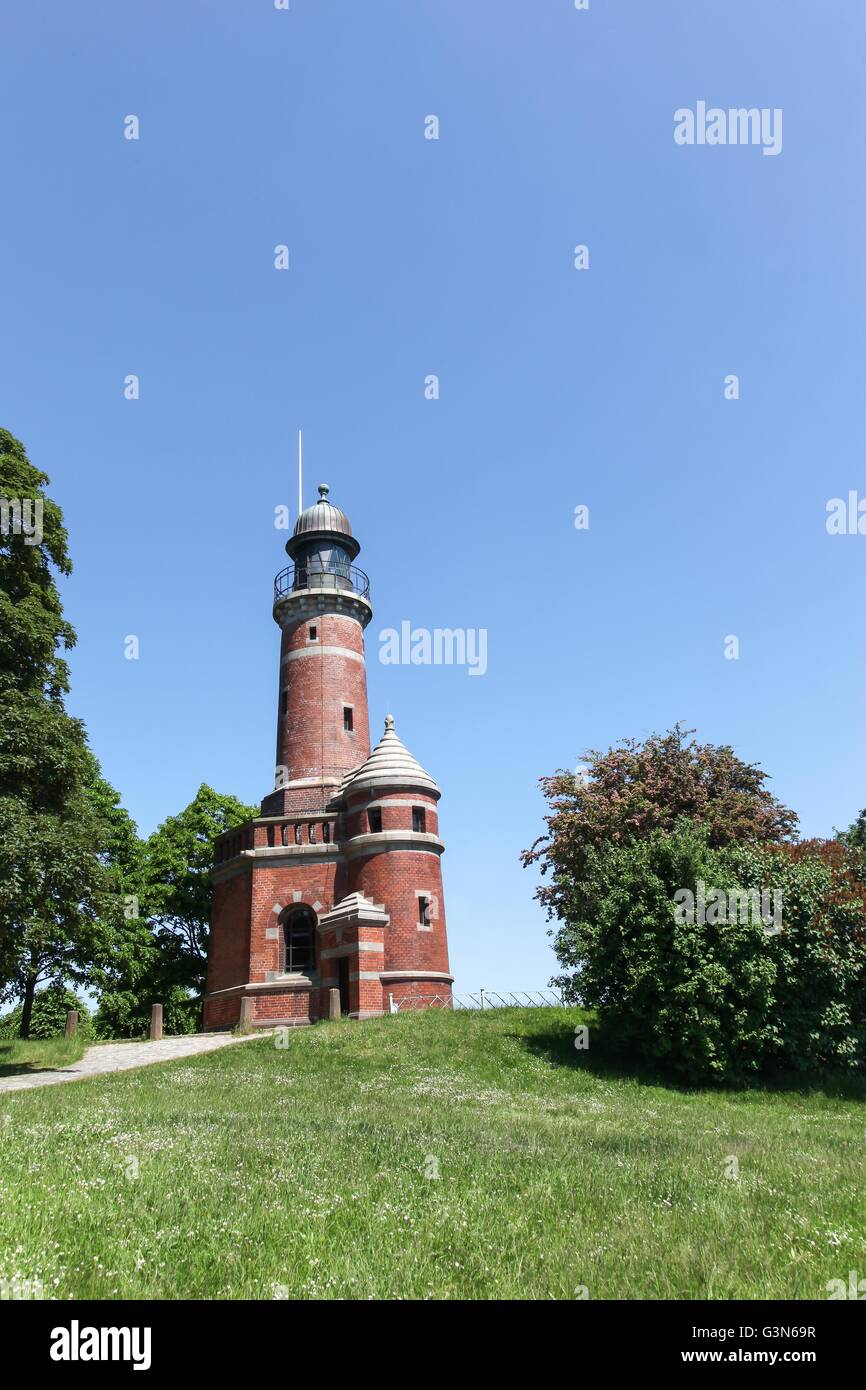 Lighthouse of Kiel Holtenau in Germany - Stock Image