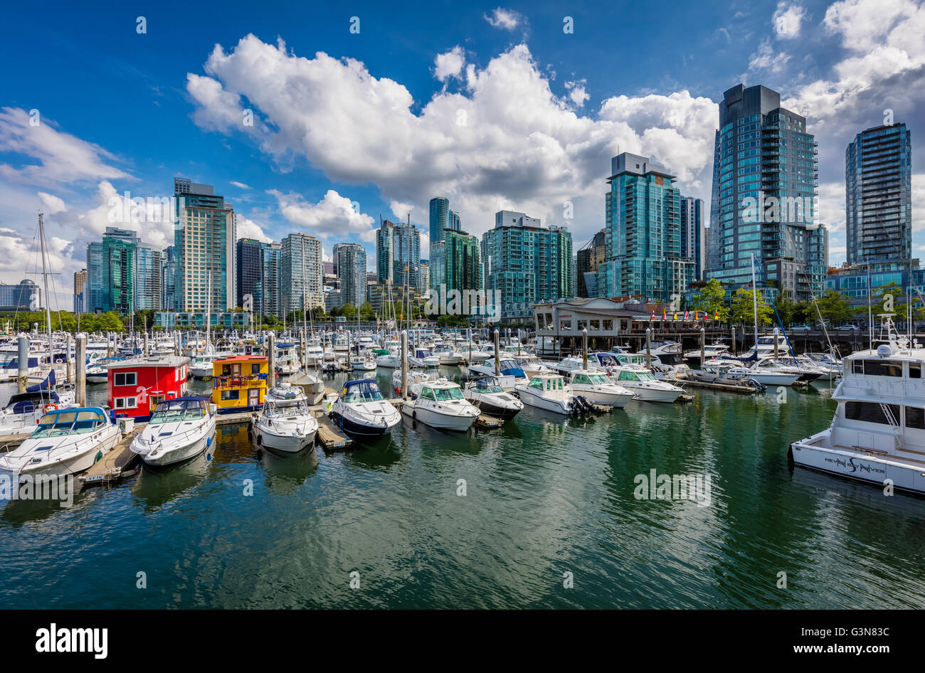 Vancouver is the most populous city in the Canadian province of British Columbia. - Stock Image