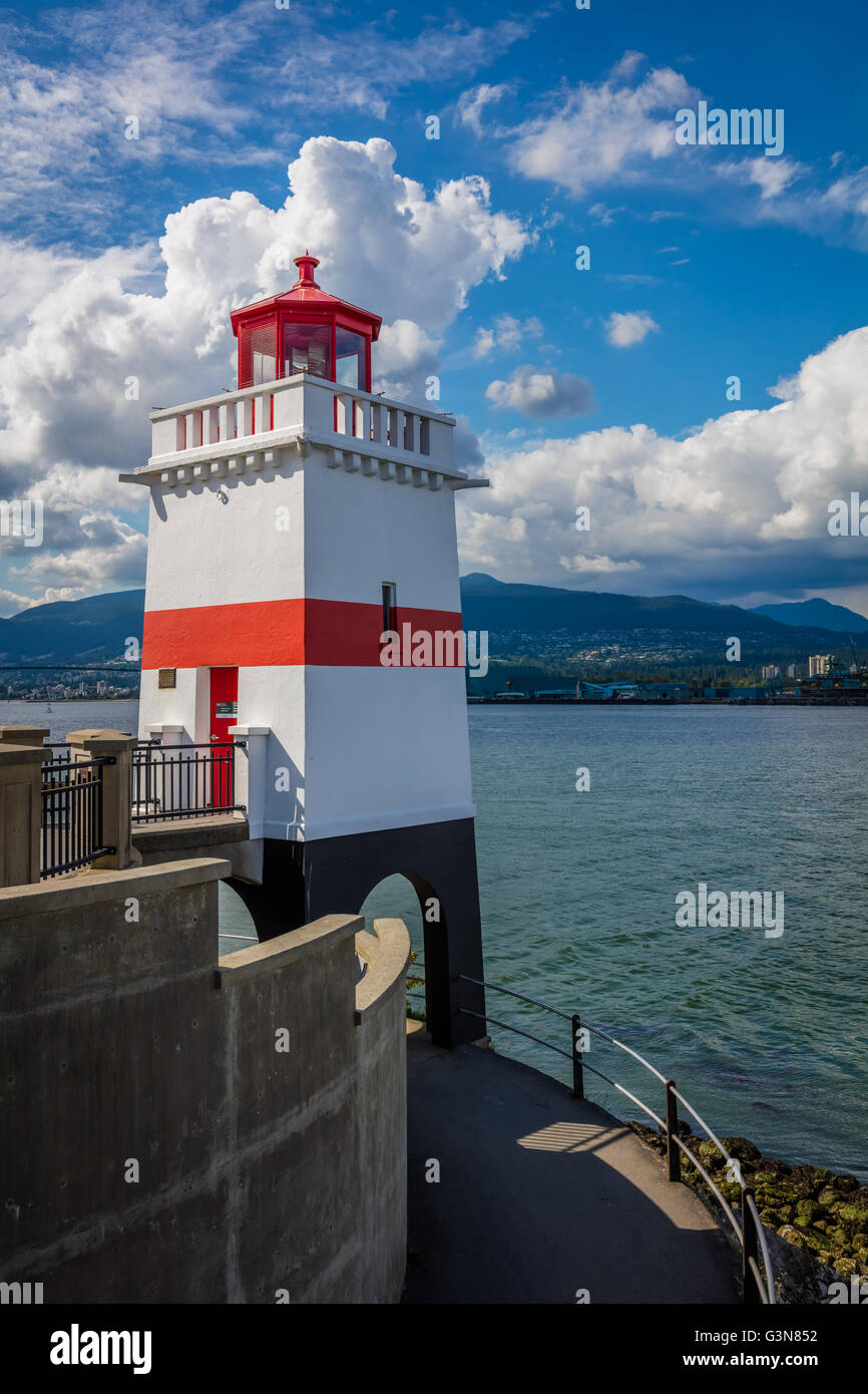 Brockton Point is a point and attached peninsula in Vancouver on the north side of Coal Harbour. - Stock Image