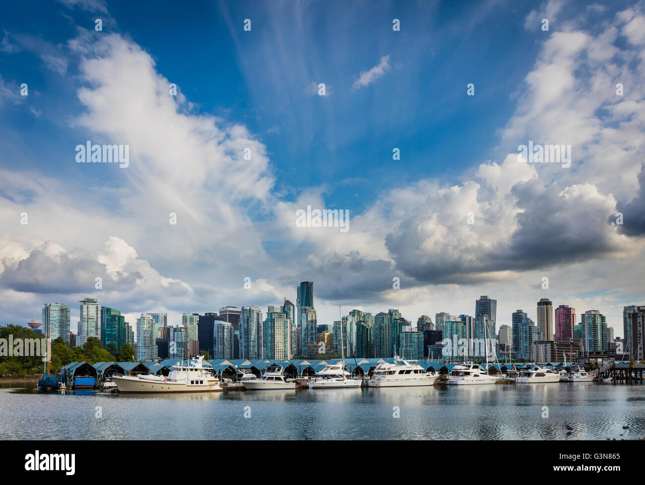 Vancouver is the most populous city in the Canadian province of British Columbia - Stock Image