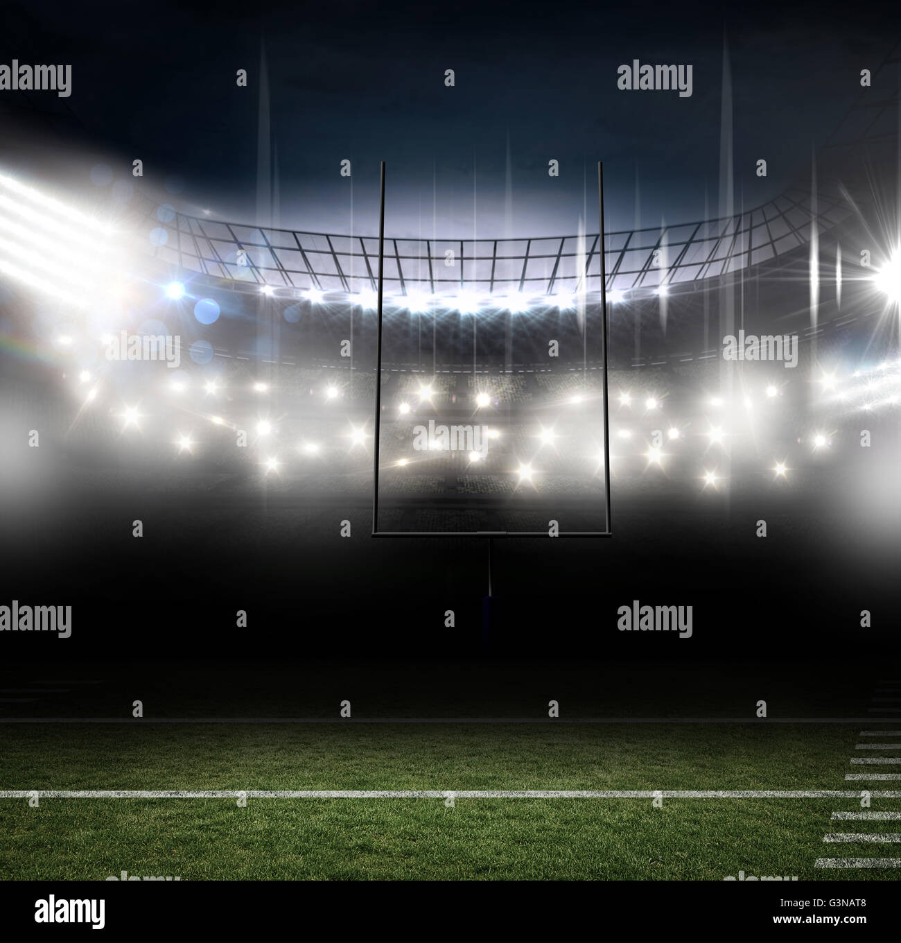 American football arena - Stock Image