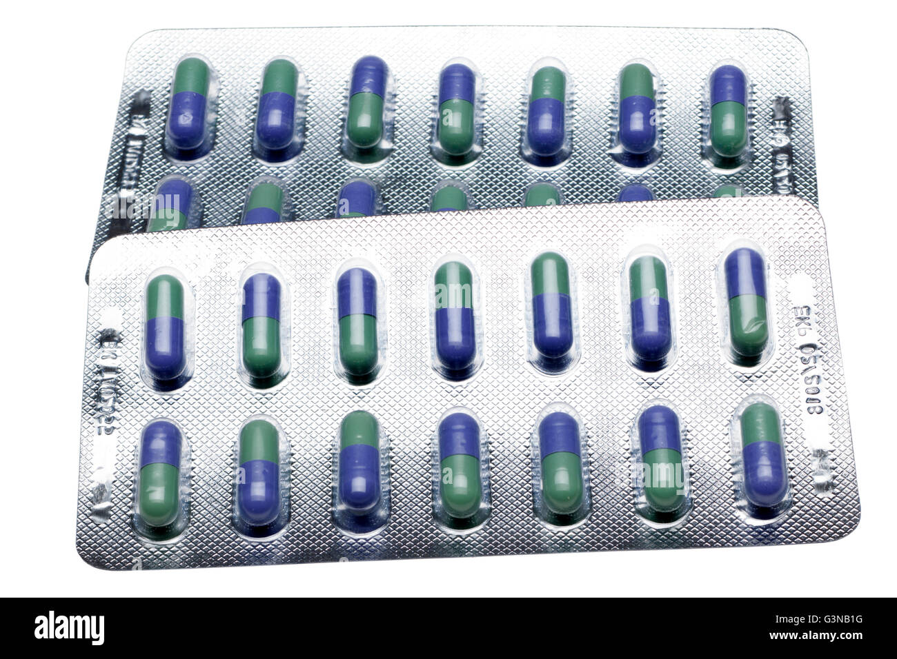 Two Blister packs of 50mg Trazodone  capsules - Stock Image