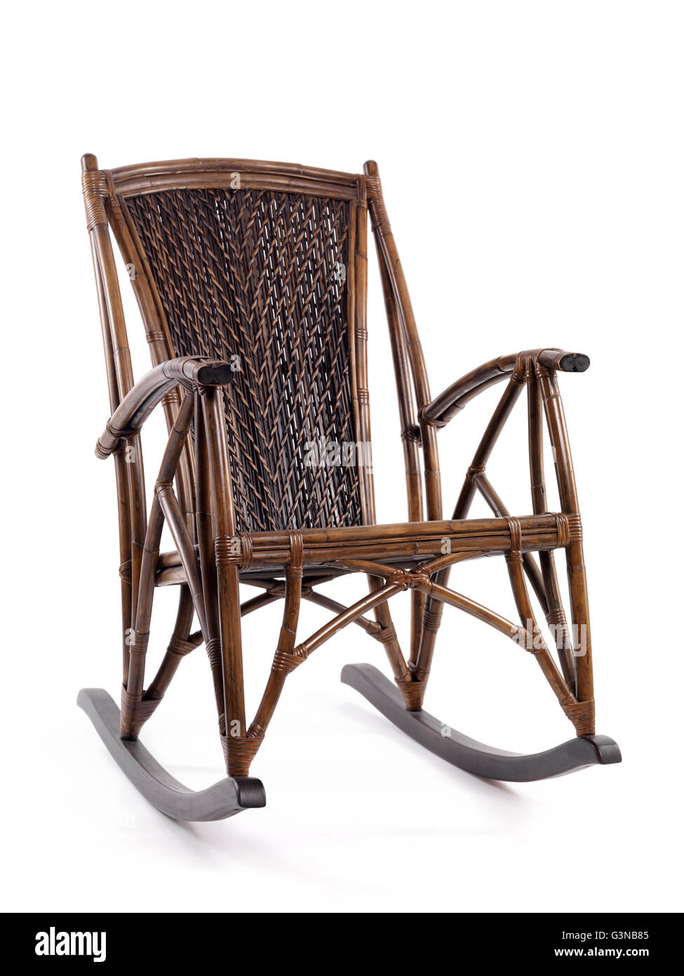 Antique Bamboo Wicker Rocking Chair Stock Photo 105576021 Alamy