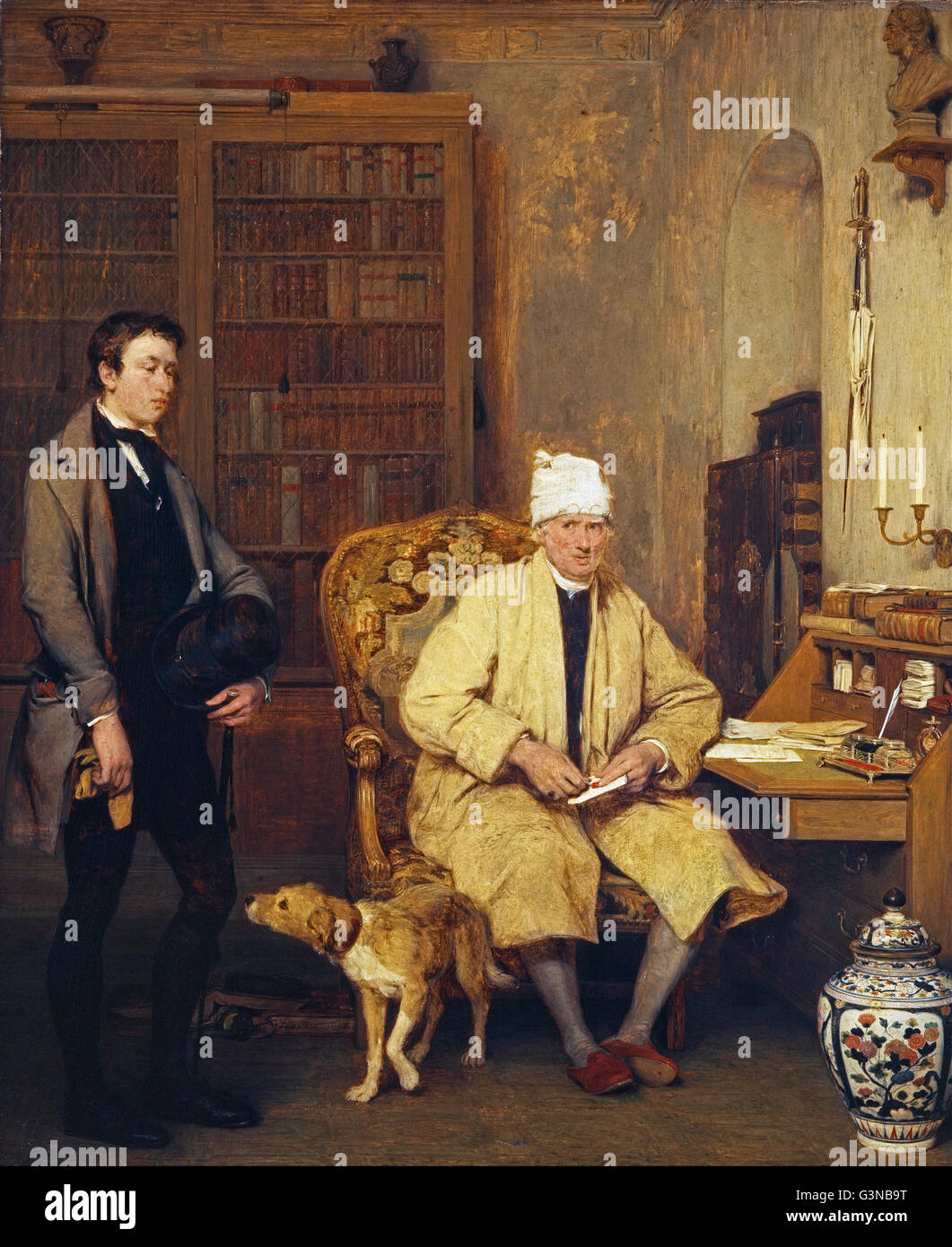 Sir David Wilkie - The Letter of Introduction - Stock Image