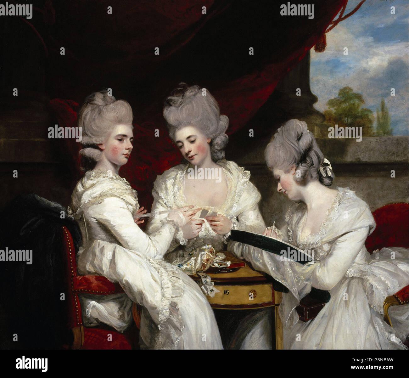 Sir Joshua Reynolds - The Ladies Waldegrave - Stock Image