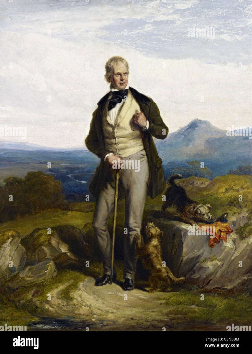 Sir William Allan - Sir Walter Scott, 1771 - 1832. Novelist and poet - Stock Image