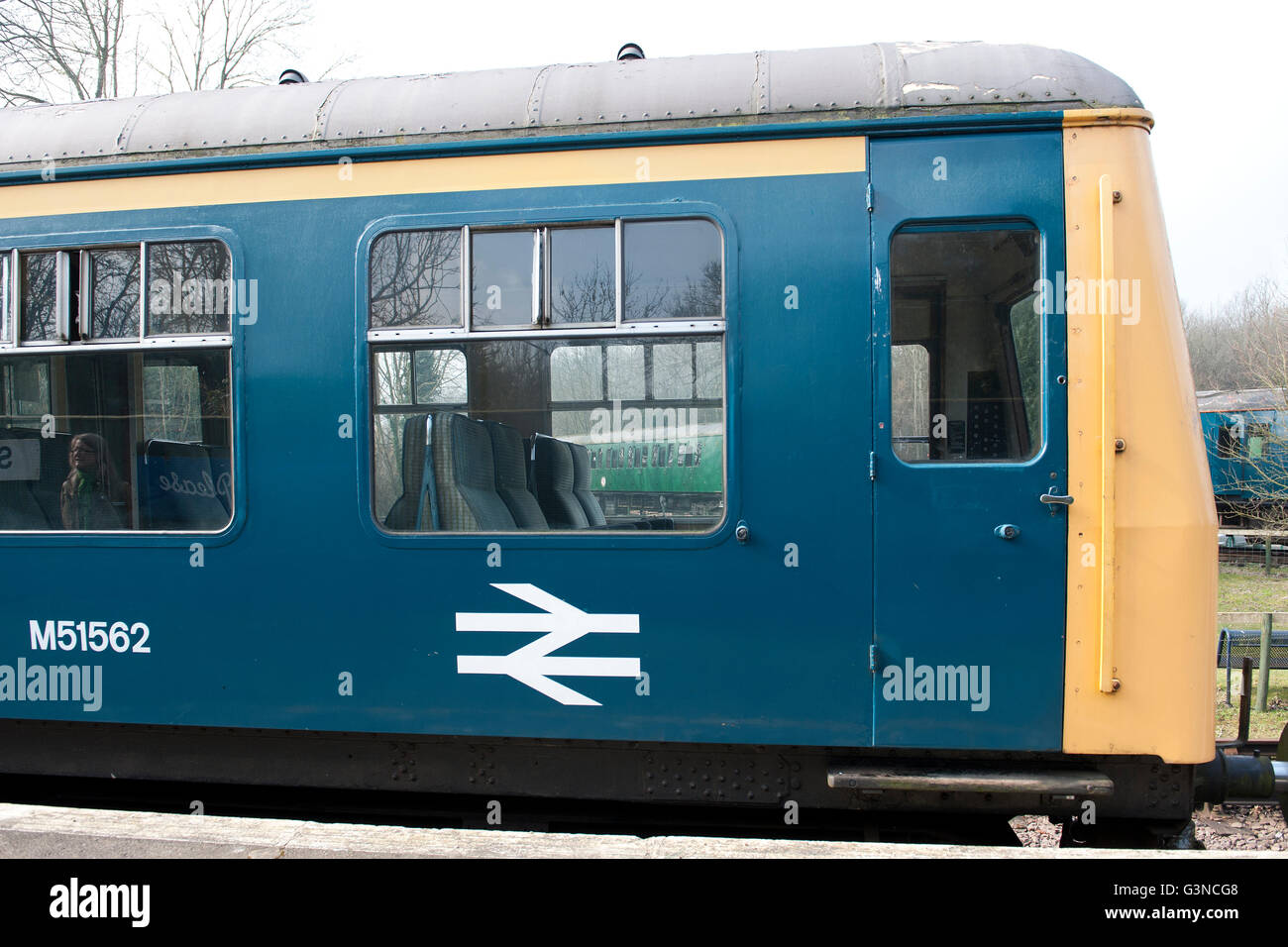 Class 108 DMU  on the East Kent Railway, Kent UK - Stock Image