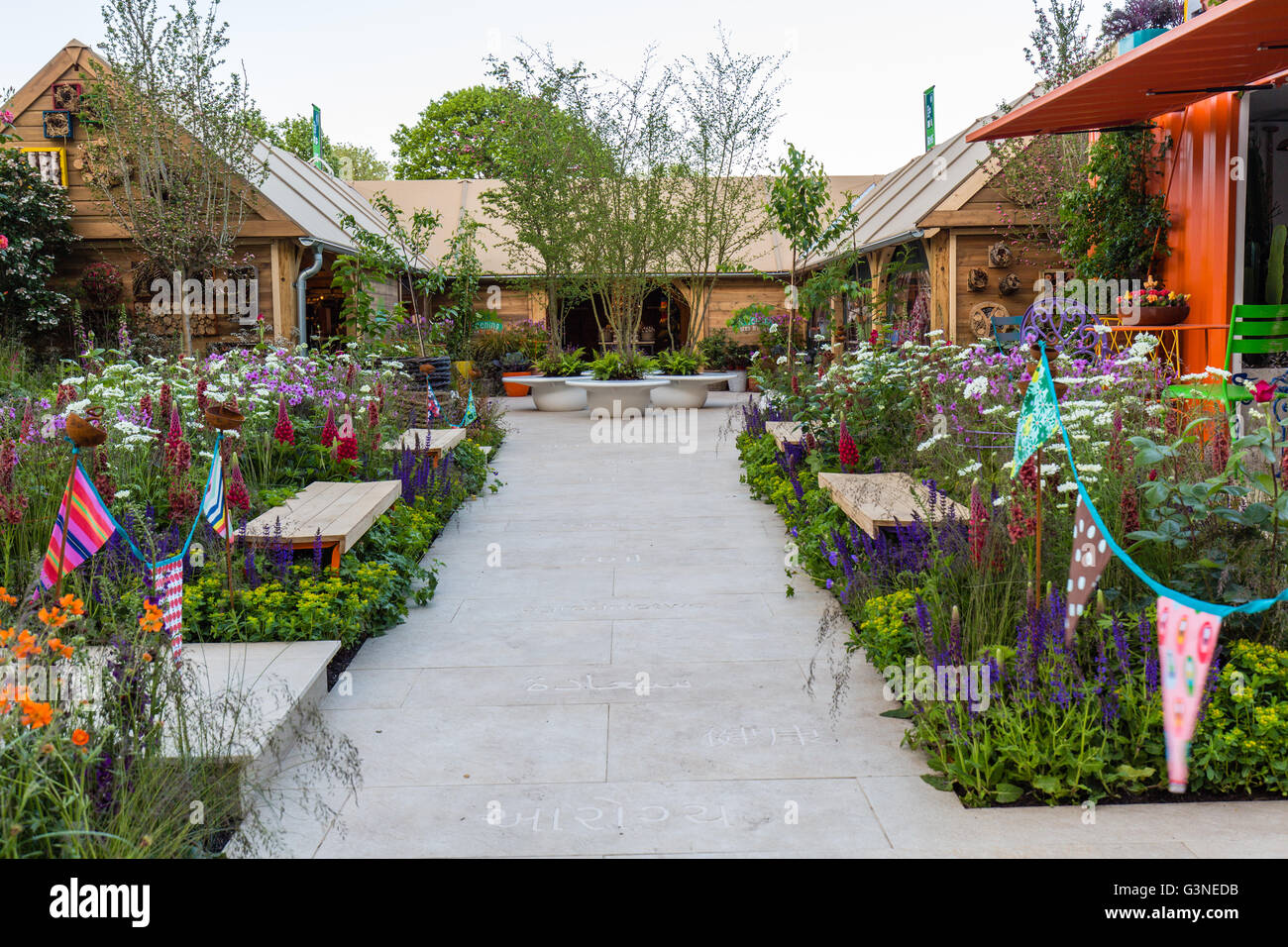 Show Gardens At RHS Chelsea Flower Show 2016. RHS Greening Grey Britain  Garden, Designed