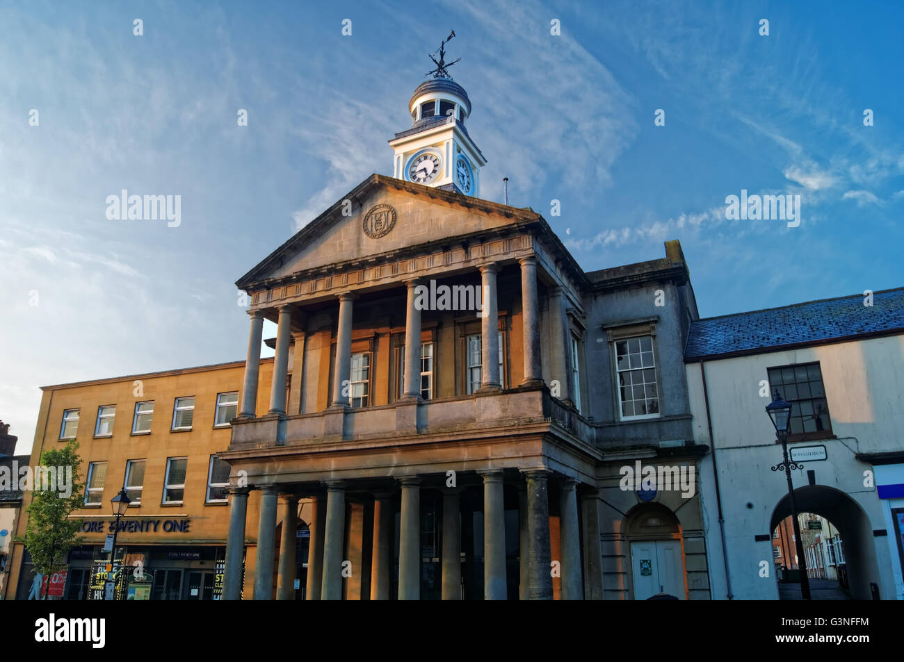 UK,Somerset,Chard,Fore Street,Guildhall - Stock Image