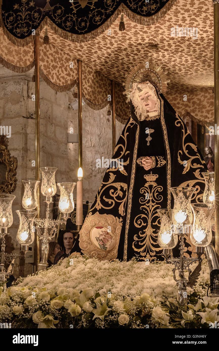 María de la Soledad. Anonymous, 18th, century, the city of Palencia, Castilla y Leon, Spain - Stock Image