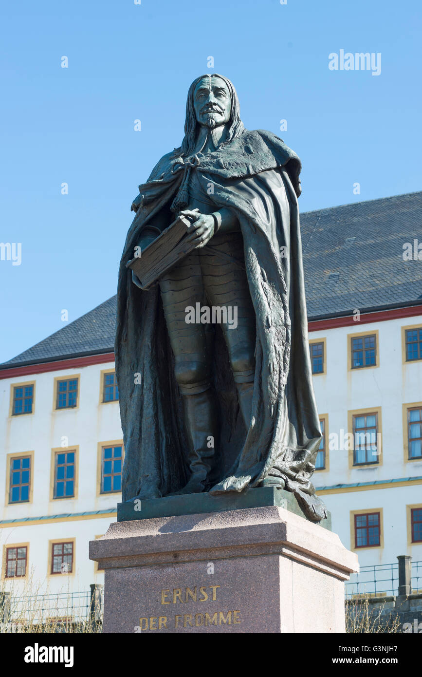 Monument Ernst I., the Pious, 1601-1675, Duke of Saxe-Gotha and Sax-Altenburg, a colonel in the Thirty Years' War, Stock Photo
