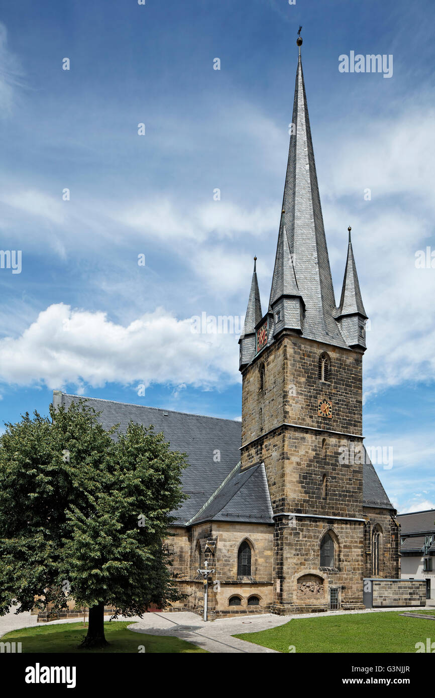 Catholic parish church of Our Lady, steeple, Lichtenfels, Maintal, Upper Franconia, Bavaria, Germany - Stock Image