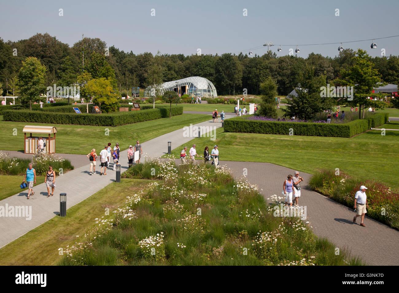 Garden show site, Floriade 2012, Horticultural World Expo, Venlo, Limburg, Netherlands, Europe Stock Photo