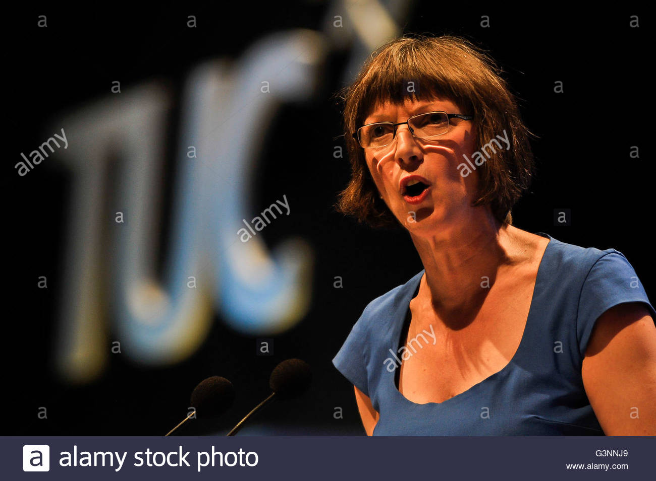 File photo dated 09/09/13 of TUC General Secretary Frances O'Grady, who has warned that leaving the EU could - Stock Image